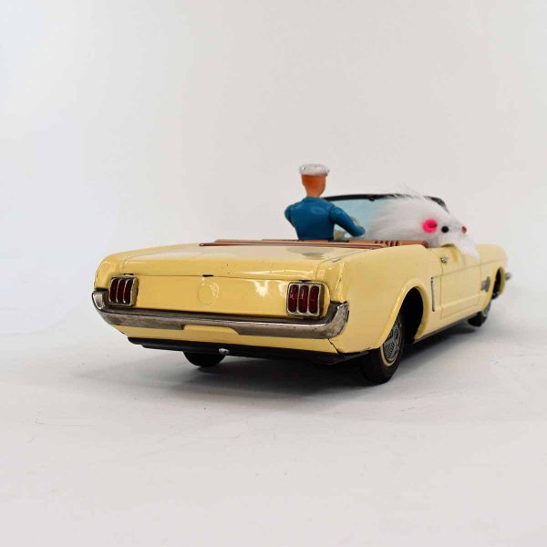 Alps 'Auto Doggie' Mustang Convertible Battery Operated Tin Car