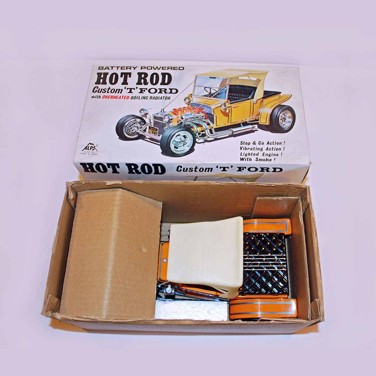 Alps Battery Powered HOT ROD Custom 'T' Ford In Box