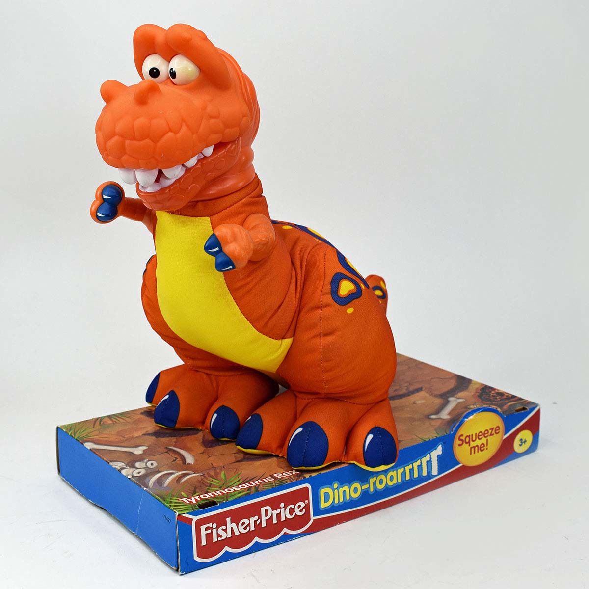 Fisher Price 'Dino-roarrrrr' Tyrannosaurus Rex Puffalump Stuffed Toy