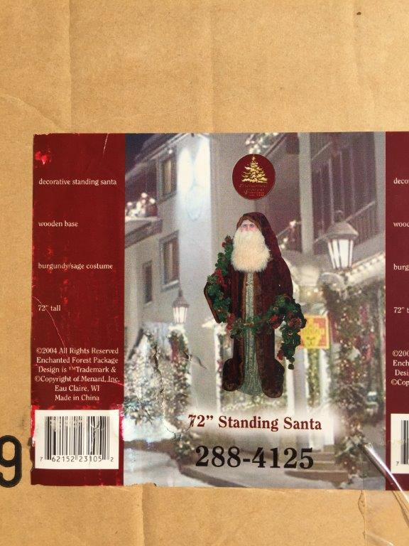 """72"""" Old World Santa from the Enchanted Forest Collection - Menards 2004"""