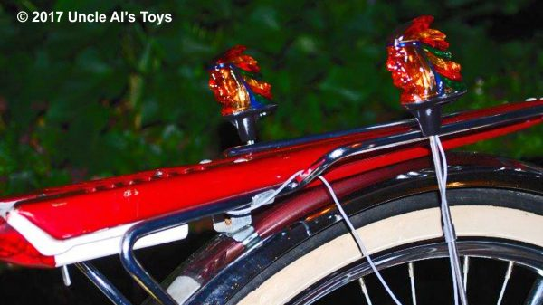 Big Chief Bicycle Accessory Light Set - Handpainted