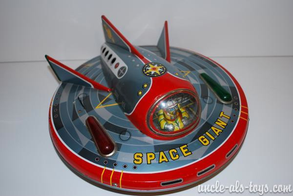 "Masudaya Japan Space Giant Flying Saucer Battery Operated 12"""