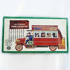 Old Fashioned Double Decker Bus toy by Modern Toys