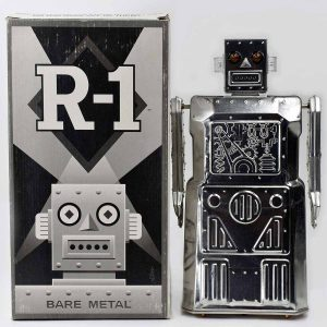 Rocket USA Battery Operated R-1 Robot 2003 Bare Metal Edition