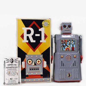 Rocket USA Battery Operated R-1 Robot 2003 Black Stripe Edition
