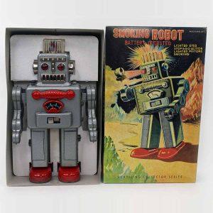 Schylling Smoking Robot, Collectors Series MIB