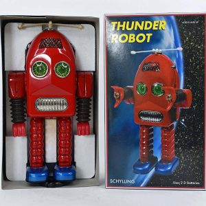Schylling Thunder Robot, Collector Series in RED Color