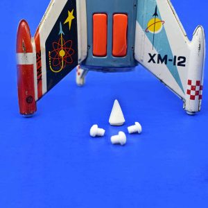 XM-12 Moon Rocket - Yonezawa - Replacement Rubber Nose Cone and Fin Tips